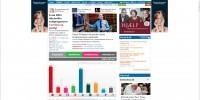 Screendump af Kristelig Dagblads hjemmeside på valgaftenen