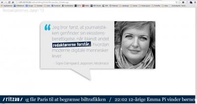 Screendump af infoskærmen til Redaktørernes Døgn' 13
