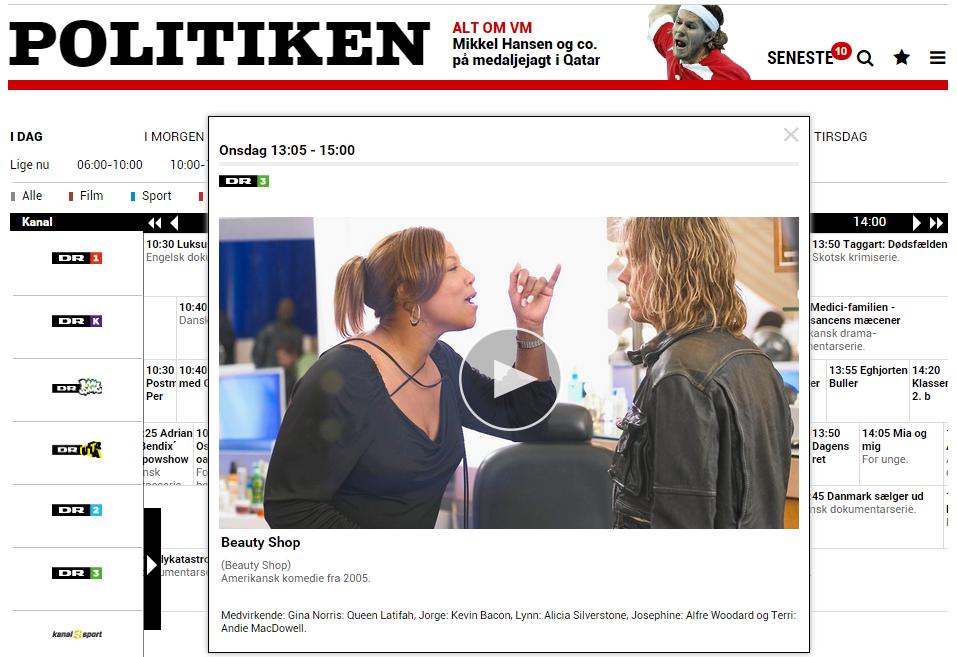 tv guide dk